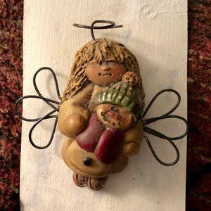 Jewelry - Never worn, handmade, clay? Holiday angel pin